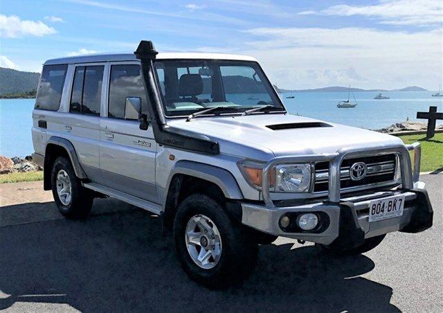 Used Toyota Landcruiser VDJ76R GXL Proserpine, 2010 Toyota Landcruiser VDJ76R GXL Silver 5 Speed Manual