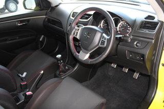 2015 Suzuki Swift FZ MY15 Sport Yellow 6 Speed Manual Hatchback