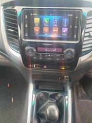 2017 Mitsubishi Triton MQ MY17 GLS Double Cab Black Pearlescent 6 Speed Manual Utility
