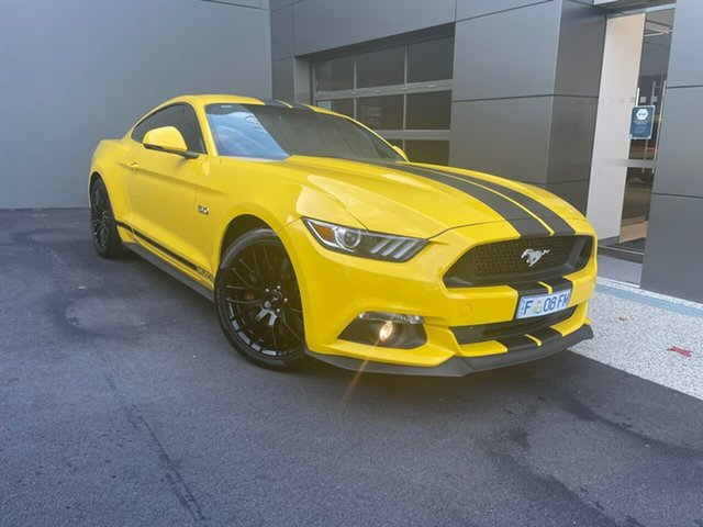 Used Ford Mustang FM 2017MY GT Fastback SelectShift Hobart, 2016 Ford Mustang FM 2017MY GT Fastback SelectShift Yellow 6 Speed Sports Automatic Fastback