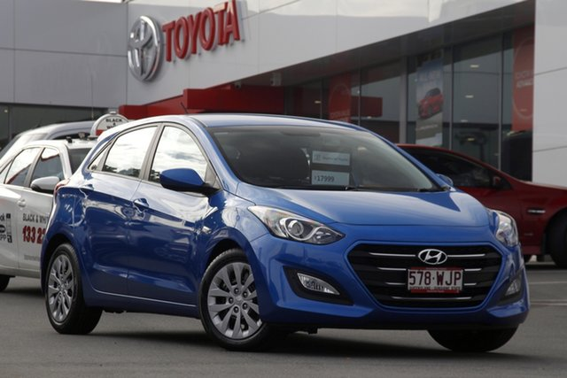 Pre-Owned Hyundai i30 GD4 Series II MY16 Active Woolloongabba, 2015 Hyundai i30 GD4 Series II MY16 Active Blue 6 Speed Sports Automatic Hatchback