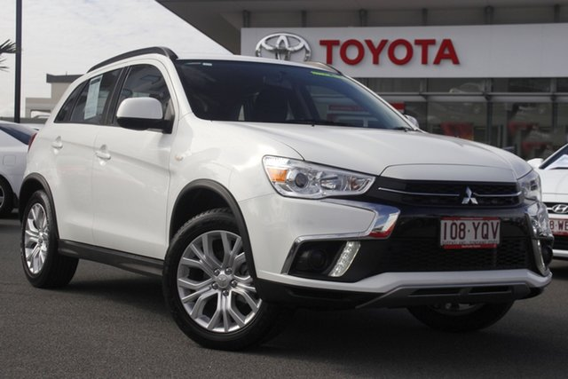 Pre-Owned Mitsubishi ASX XC MY19 ES 2WD Upper Mount Gravatt, 2018 Mitsubishi ASX XC MY19 ES 2WD White 1 Speed Constant Variable Wagon