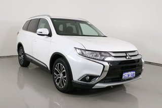 2017 Mitsubishi Outlander ZL MY18.5 LS 7 Seat (2WD) White Continuous Variable Wagon.