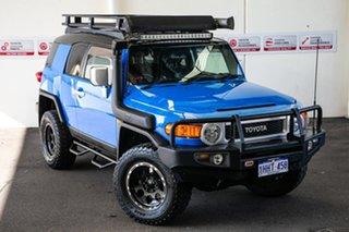 2012 Toyota FJ Cruiser GSJ15R Voodoo Blue 5 Speed Automatic Wagon.