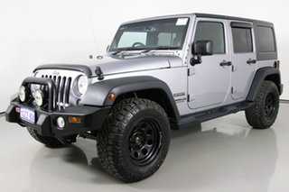 2014 Jeep Wrangler Unlimited JK MY13 Sport (4x4) Silver 6 Speed Manual Softtop.