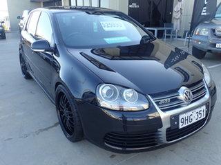 2009 Volkswagen Golf 1K MY09 R32 Black Metallic 6 Speed Direct Shift Hatchback.
