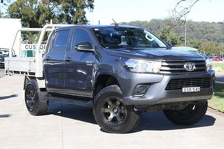 2017 Toyota Hilux GUN126R SR Double Cab Grey 6 Speed Sports Automatic Cab Chassis.