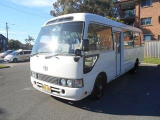 1994 Toyota Coaster HZB30R Standard (LWB) White 5 Speed Manual Bus.