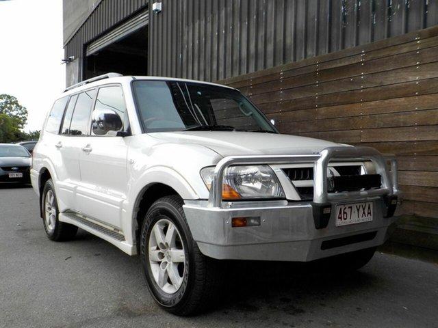 Used Mitsubishi Pajero NP MY05 Exceed Labrador, 2004 Mitsubishi Pajero NP MY05 Exceed White 5 Speed Sports Automatic Wagon