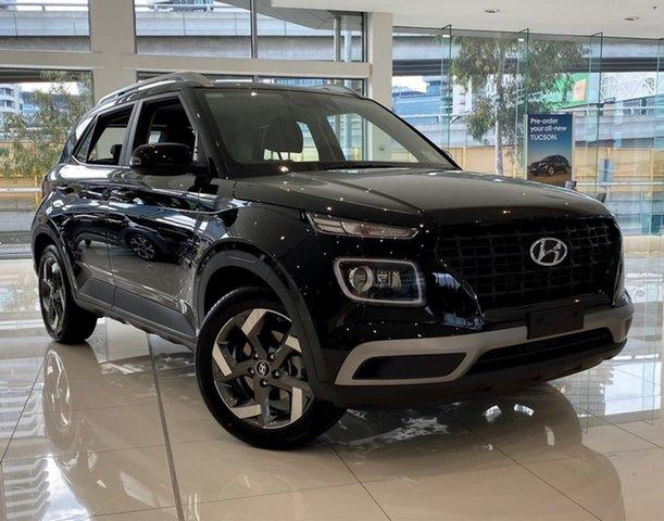 New Hyundai Venue QX.V3 MY21 Active South Melbourne, 2021 Hyundai Venue QX.V3 MY21 Active Phantom Black 6 Speed Automatic Wagon