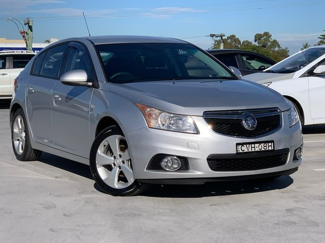Used Holden Cruze JH Series II MY14 Equipe Liverpool, 2014 Holden Cruze JH Series II MY14 Equipe Silver 6 Speed Sports Automatic Hatchback