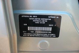2011 Toyota Yaris NCP130R YR Green Potion 5 Speed Manual Hatchback