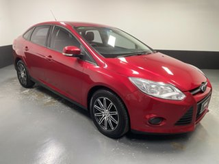 2012 Ford Focus LW Ambiente PwrShift Candy Red 6 Speed Sports Automatic Dual Clutch Sedan.