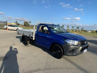2016 Toyota Hilux GUN122R Workmate Blue 5 Speed Manual Cab Chassis.