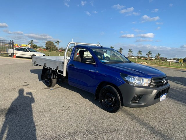 Used Toyota Hilux GUN122R Workmate Wangara, 2016 Toyota Hilux GUN122R Workmate Blue 5 Speed Manual Cab Chassis
