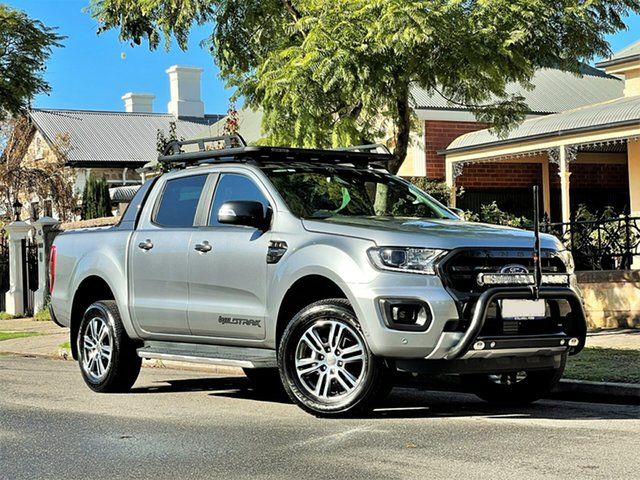 Used Ford Ranger PX MkIII 2020.25MY Wildtrak Hyde Park, 2020 Ford Ranger PX MkIII 2020.25MY Wildtrak Silver 10 Speed Sports Automatic Double Cab Pick Up