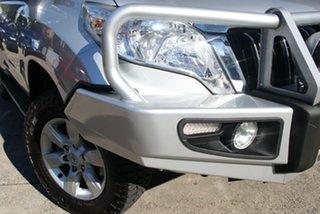 2014 Toyota Landcruiser Prado KDJ150R MY14 GXL (4x4) Silver Pearl 6 Speed Manual Wagon.