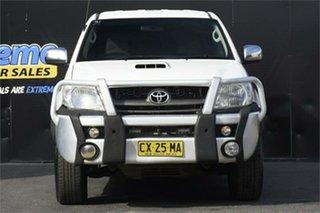 2011 Toyota Hilux KUN26R MY10 SR5 White 4 Speed Automatic Utility.