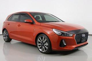 2017 Hyundai i30 PD SR Orange 7 Speed Auto Dual Clutch Hatchback.