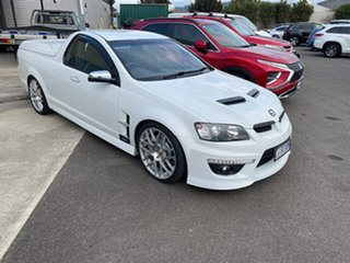 2010 Holden Special Vehicles Maloo E Series 2 GXP Heron White 6 Speed Manual Utility.