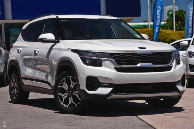 Demo Kia Seltos Sport+ Gosnells, 2021 Kia Seltos SP2 Sport+ White Constant Variable SUV