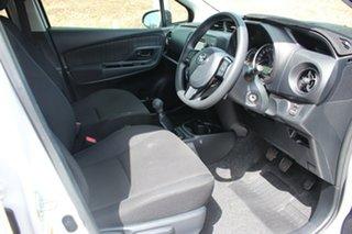 2018 Toyota Yaris NCP130R Ascent Glacier White 5 Speed Manual Hatchback