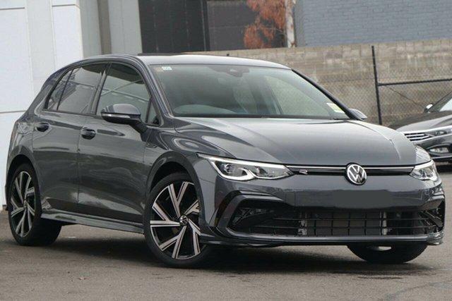 New Volkswagen Golf 8 MY21 110TSI R-Line Epsom, 2021 Volkswagen Golf 8 MY21 110TSI R-Line Dolphin Grey 8 Speed Sports Automatic Hatchback