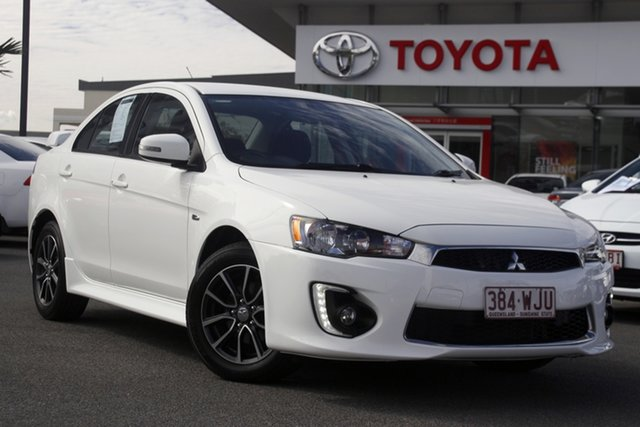 Pre-Owned Mitsubishi Lancer CF MY16 ES Sport Upper Mount Gravatt, 2016 Mitsubishi Lancer CF MY16 ES Sport White 6 Speed Constant Variable Sedan