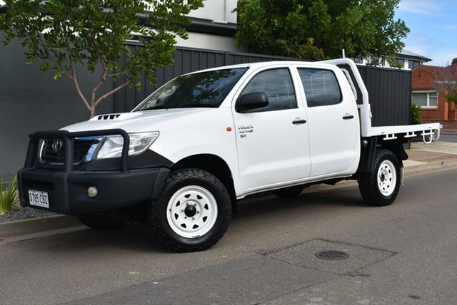 Used Toyota Hilux KUN26R MY12 SR Double Cab Brighton, 2013 Toyota Hilux KUN26R MY12 SR Double Cab White 5 Speed Manual Utility