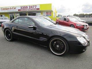 2002 Mercedes-Benz SL-Class R230 SL500 Black 5 Speed Sports Automatic Roadster.