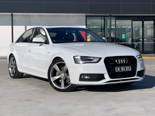 2014 Audi A4 B8 8K MY15 S Line S Tronic Quattro White 7 Speed Sports Automatic Dual Clutch Sedan.