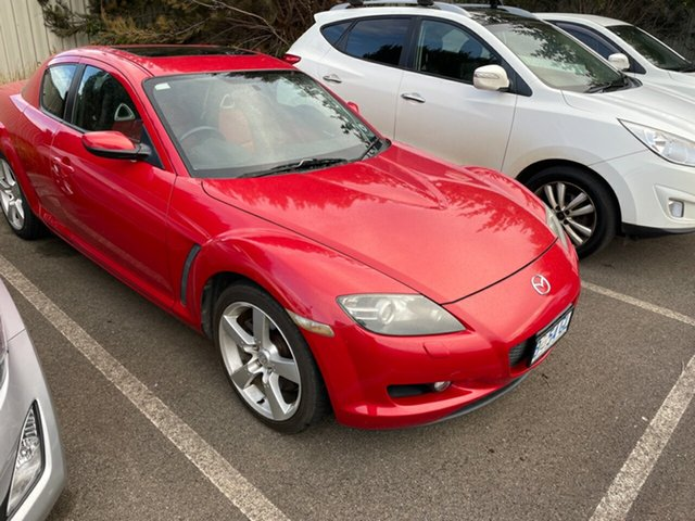 Used Mazda RX-8 FE1031 Devonport, 2004 Mazda RX-8 FE1031 Red 6 Speed Manual Coupe