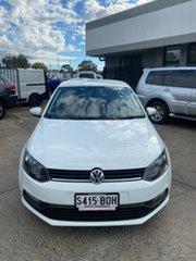 2016 Volkswagen Polo 6R MY17 66TSI DSG Trendline White 7 Speed Sports Automatic Dual Clutch.