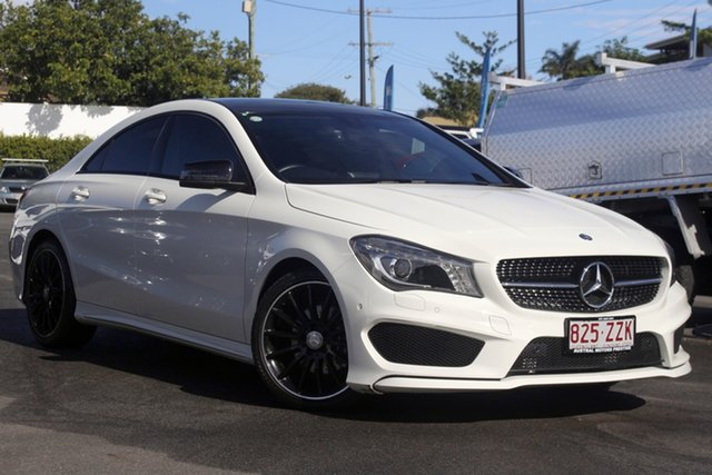 Used Mercedes-Benz CLA-Class C117 CLA200 DCT Mount Gravatt, 2013 Mercedes-Benz CLA-Class C117 CLA200 DCT White 7 Speed Sports Automatic Dual Clutch Coupe