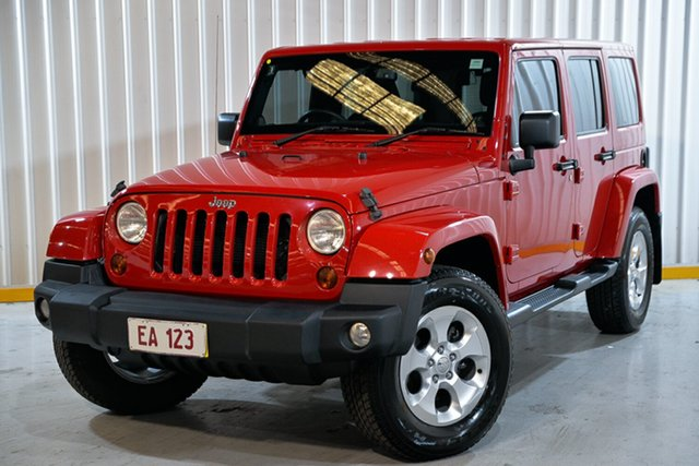 Used Jeep Wrangler JK MY2013 Unlimited Overland Hendra, 2013 Jeep Wrangler JK MY2013 Unlimited Overland Red 5 Speed Automatic Hardtop