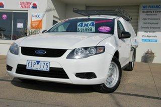 2010 Ford Falcon FG White 5 Speed Auto Seq Sportshift Cab Chassis.