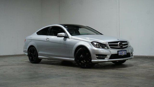 Used Mercedes-Benz C-Class C204 MY13 C180 7G-Tronic + Welshpool, 2013 Mercedes-Benz C-Class C204 MY13 C180 7G-Tronic + Silver 7 Speed Sports Automatic Coupe