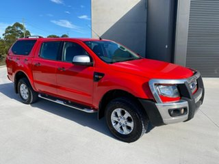 2013 Ford Ranger PX XLS Double Cab Red 6 Speed Manual Utility.