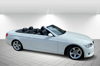 2010 BMW 3 Series E93 MY11 320d Steptronic White 6 Speed Sports Automatic Convertible.