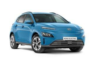 2021 Hyundai Kona Os.v4 MY21 electric Highlander Surfy Blue 1 Speed Reduction Gear Wagon