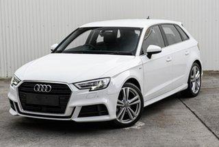2020 Audi A3 8V MY20 35 TFSI S Tronic White 7 Speed Sports Automatic Dual Clutch Sedan.