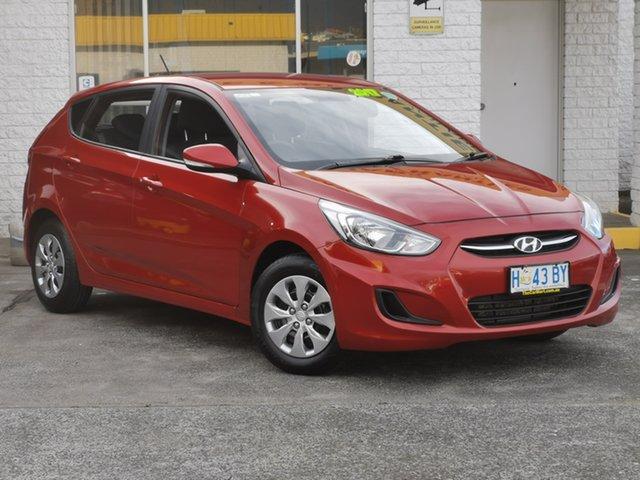 Used Hyundai Accent RB6 MY18 Sport Derwent Park, 2018 Hyundai Accent RB6 MY18 Sport Pulse Red 6 Speed Sports Automatic Hatchback