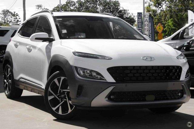 New Hyundai Kona Os.v4 MY21 Highlander 2WD Oakleigh, 2021 Hyundai Kona Os.v4 MY21 Highlander 2WD White 8 Speed Constant Variable Wagon