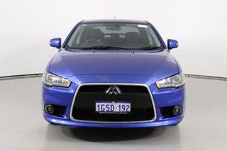 2014 Mitsubishi Lancer CJ MY15 XLS Blue 6 Speed CVT Auto Sequential Sedan.