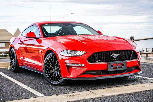 Used Ford Mustang FN 2018MY GT Fastback SelectShift Christies Beach, 2018 Ford Mustang FN 2018MY GT Fastback SelectShift Red 10 Speed Sports Automatic Fastback