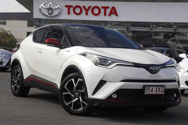 Pre-Owned Toyota C-HR NGX10R Koba S-CVT 2WD Upper Mount Gravatt, 2017 Toyota C-HR NGX10R Koba S-CVT 2WD White 7 Speed Constant Variable Wagon