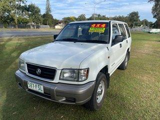 2000 Holden Jackaroo U8 MY00 White 5 Speed Manual Wagon.