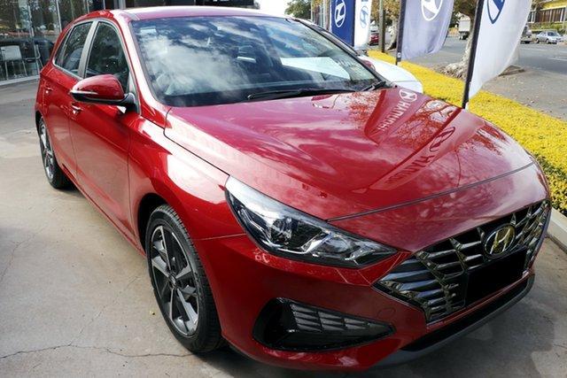 Demo Hyundai i30 PD.V4 MY21 N Line D-CT Toowoomba, 2020 Hyundai i30 PD.V4 MY21 N Line D-CT Fiery Red 7 Speed Sports Automatic Dual Clutch Hatchback