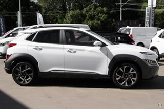 2021 Hyundai Kona Os.v4 MY21 Highlander 2WD White 8 Speed Constant Variable Wagon