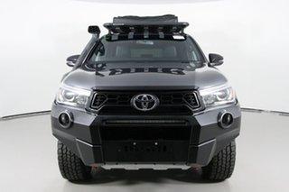 2018 Toyota Hilux GUN126R Rugged X (4x4) Grey 6 Speed Manual Dual Cab Utility.